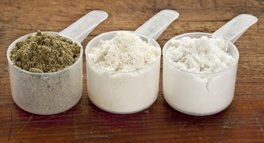 3 protein powders